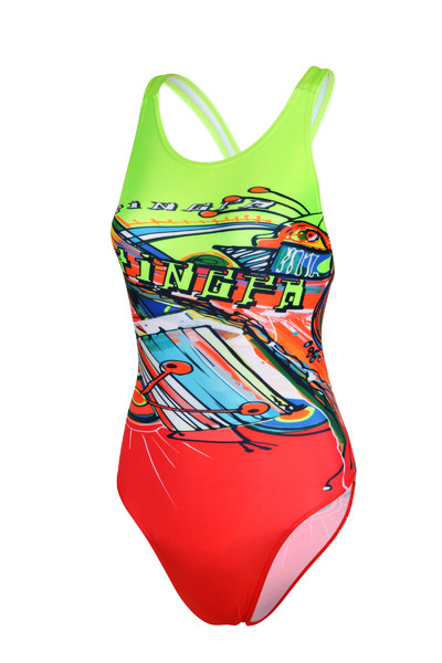 639 Women's One Piece New Race-skin Swimsuits