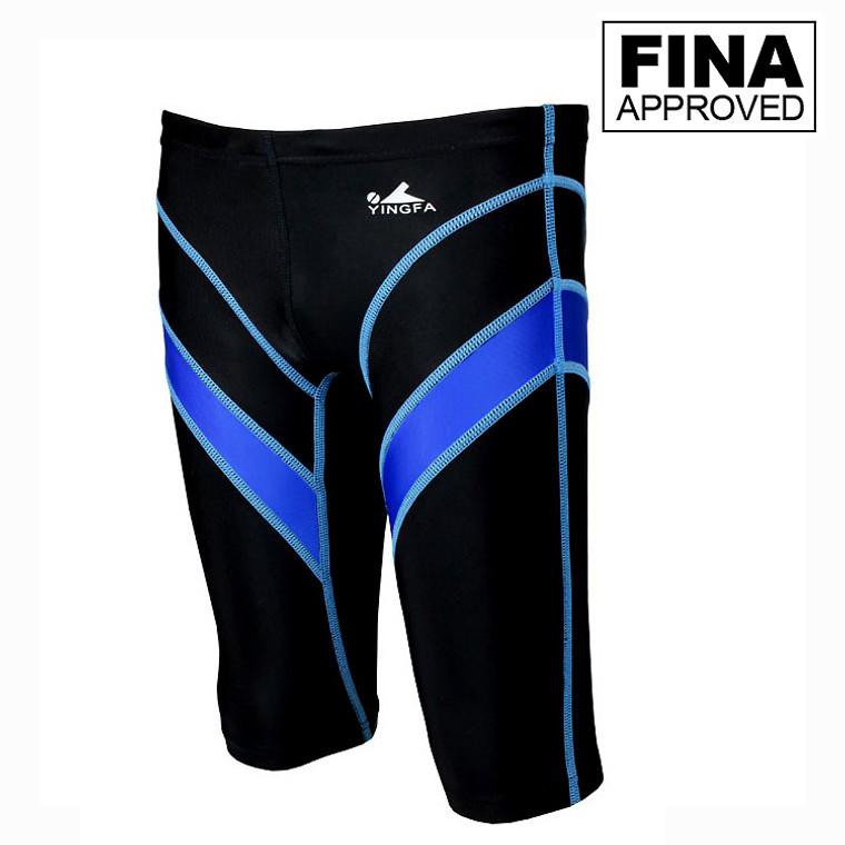 Yingfa 9402-1 Lightning Arrow Sharkskin Jammers -Fina Approved -Black/Blue