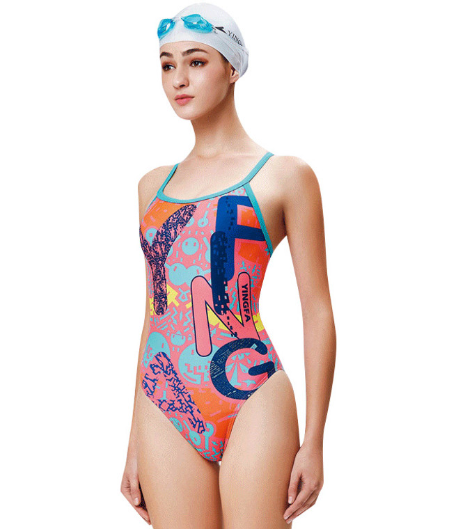 623-2 Women's PBT One Piece Swimsuits Pink
