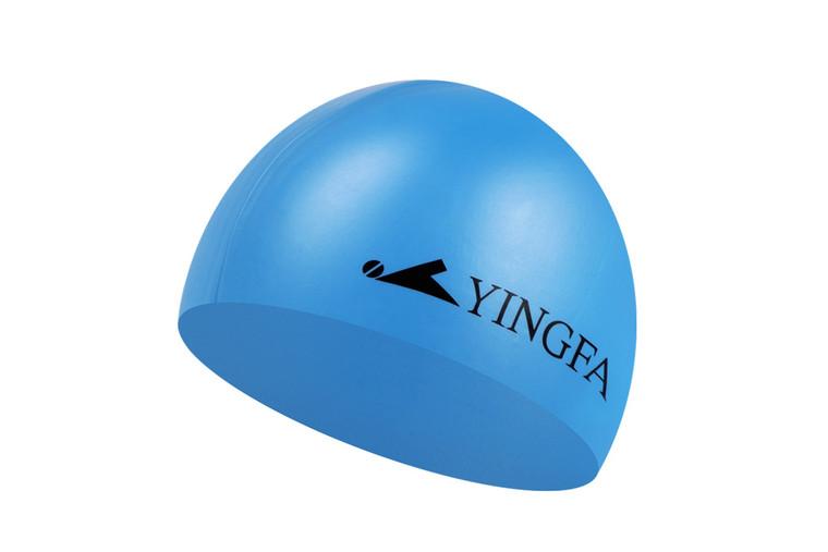 Silicone Swim Cap -Light blue