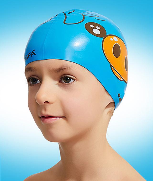 Kid Cartoon Cap - Blue Pig
