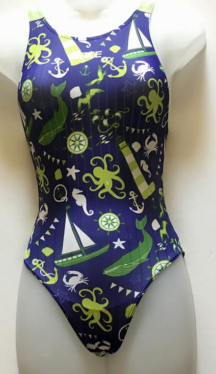 5614-2 Girl's Swimsuit - Blue