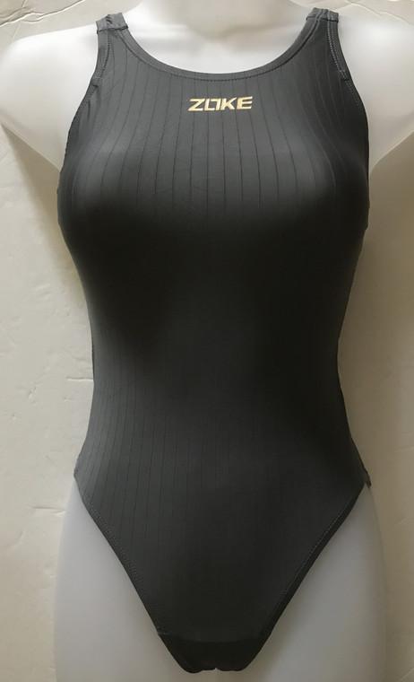 5307 One Piece Practice Swim Suits -Gray