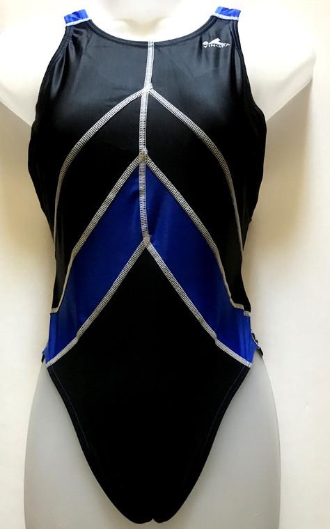 955 One Piece Women Race-skin Swimsuit -XXL