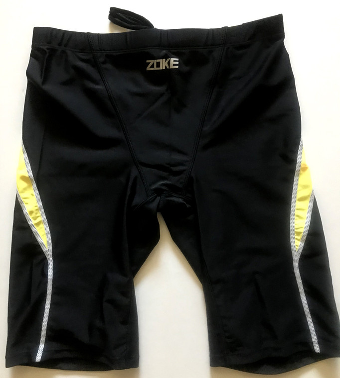 6971-1 Men Swim Jammers - Black/Yellow