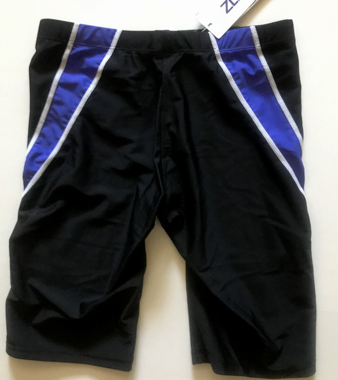 6971-4 Men Swim Jammers -Black/Blue