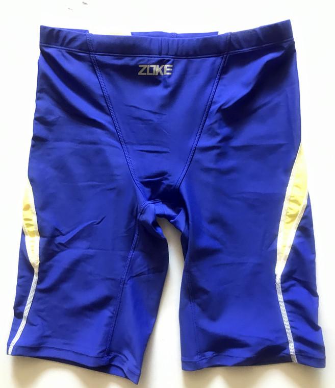 6971-5 Men Swim Jammers -Blue/Yellow