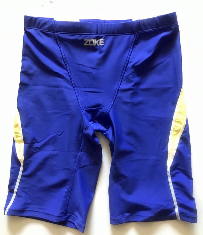 6971-5 Men Swim Jammers -Blue/Yellow