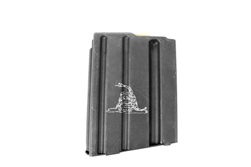 ASC AR15 10-Round Magazine 5.56/223/300BLK Enhanced Stainless Steel- Gadsden Engraved