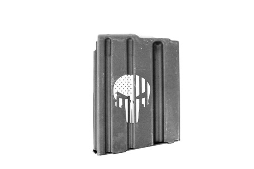 ASC AR15 10-Round Magazine 5.56/223/300BLK Enhanced Stainless Steel- Punisher Engraved