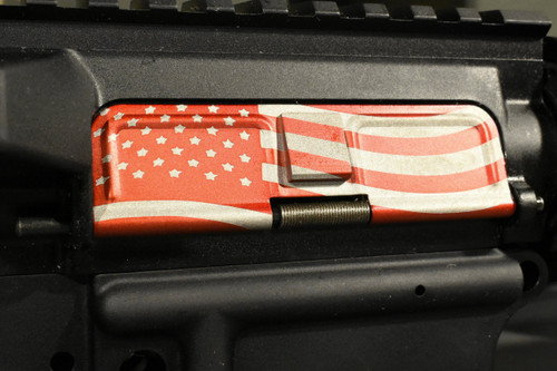 AR15 Dust Cover - American Flag 2 - RED