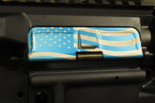 AR15 Dust Cover - American Flag 2 - Blue