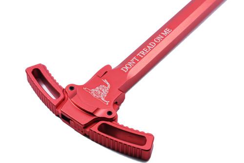AR15 Ambi Enhanced Charging Handle .223 .556 Gadsden Red - Style 1