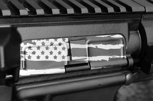 AR15 Dust Cover - Tattered American Flag