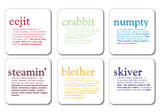 Scottish Dialect Coasters (set of 6)