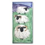 Scottish Sheep Triple Hand Painted Ceramic Tile