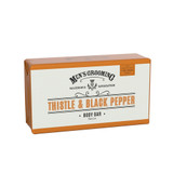 Mens Thistle and Black Pepper Bar Soap