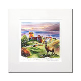 Urquhart Castle, Loch Ness with Stag