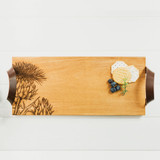 Thistle Engraved Oak Serving Tray