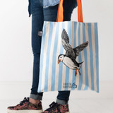 Clever Puffin Tote Bag