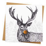 Noble Stag Holiday Card