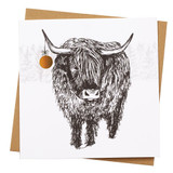Highland Cow Holiday Card