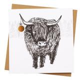 Highland Cow Holiday Card