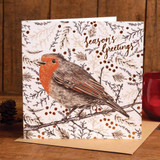 Woodland Robin Holiday Card