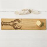 Lobster Engraved Large Oak Serving Platter