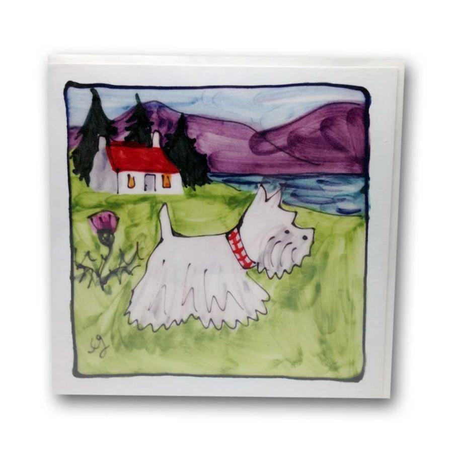 Westie Dog card