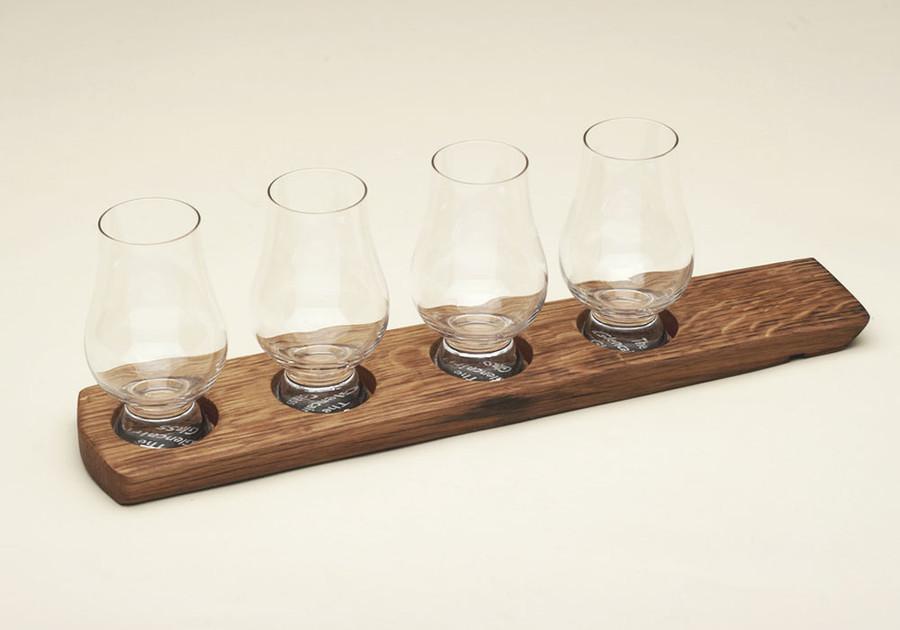 Whisky Barrel Holder for Four Glasses