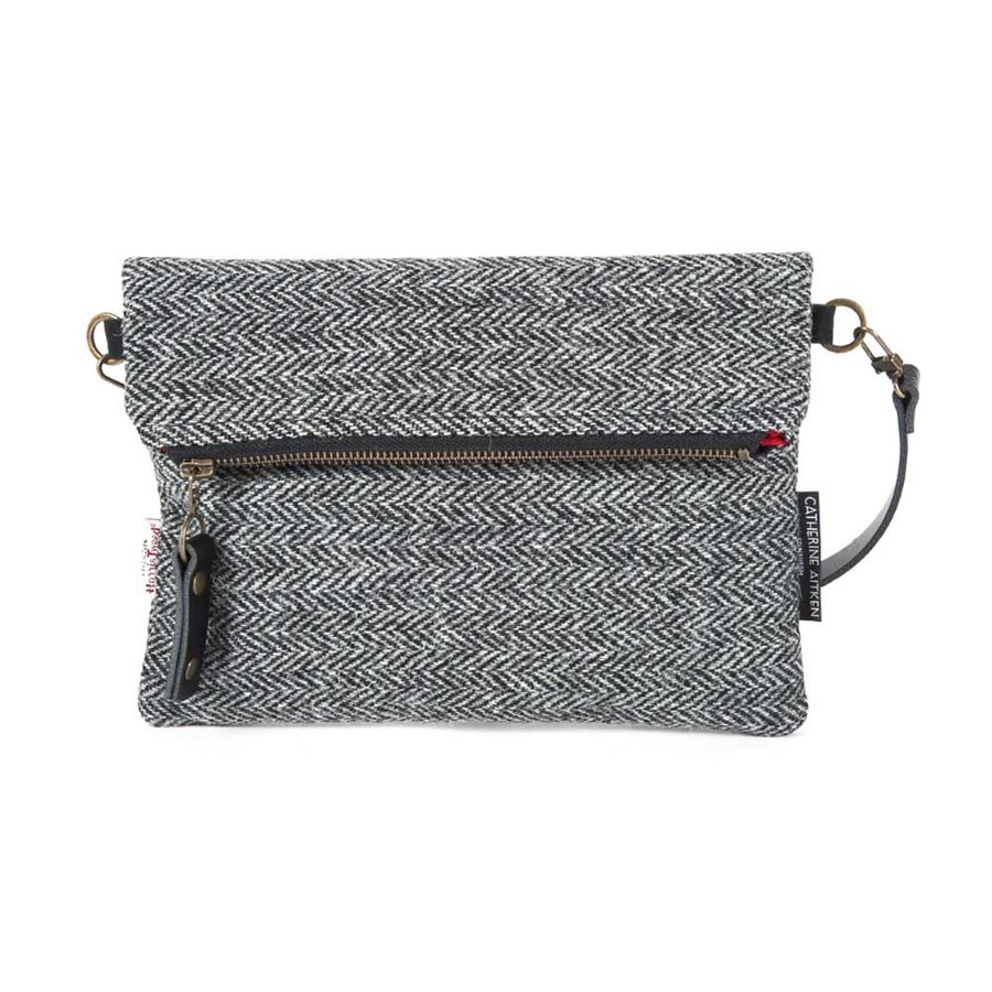 Voyager Clutch Bag in Harris Tweed