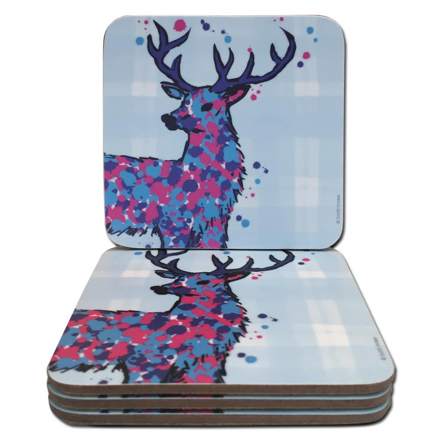 Scottish Stag Tartan Coasters