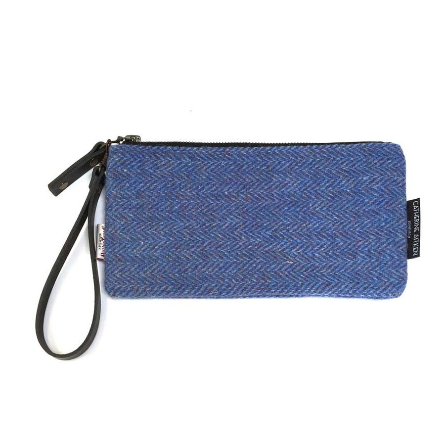 Wristlet Clutch Bag in Harris Tweed