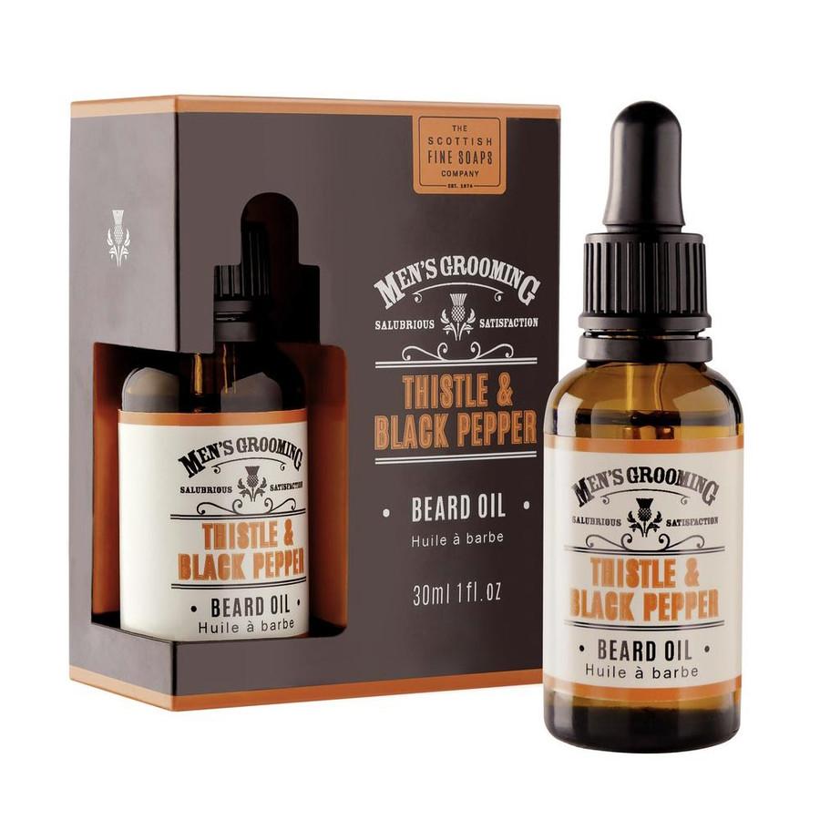 Mens Thistle and Black Pepper Beard Oil