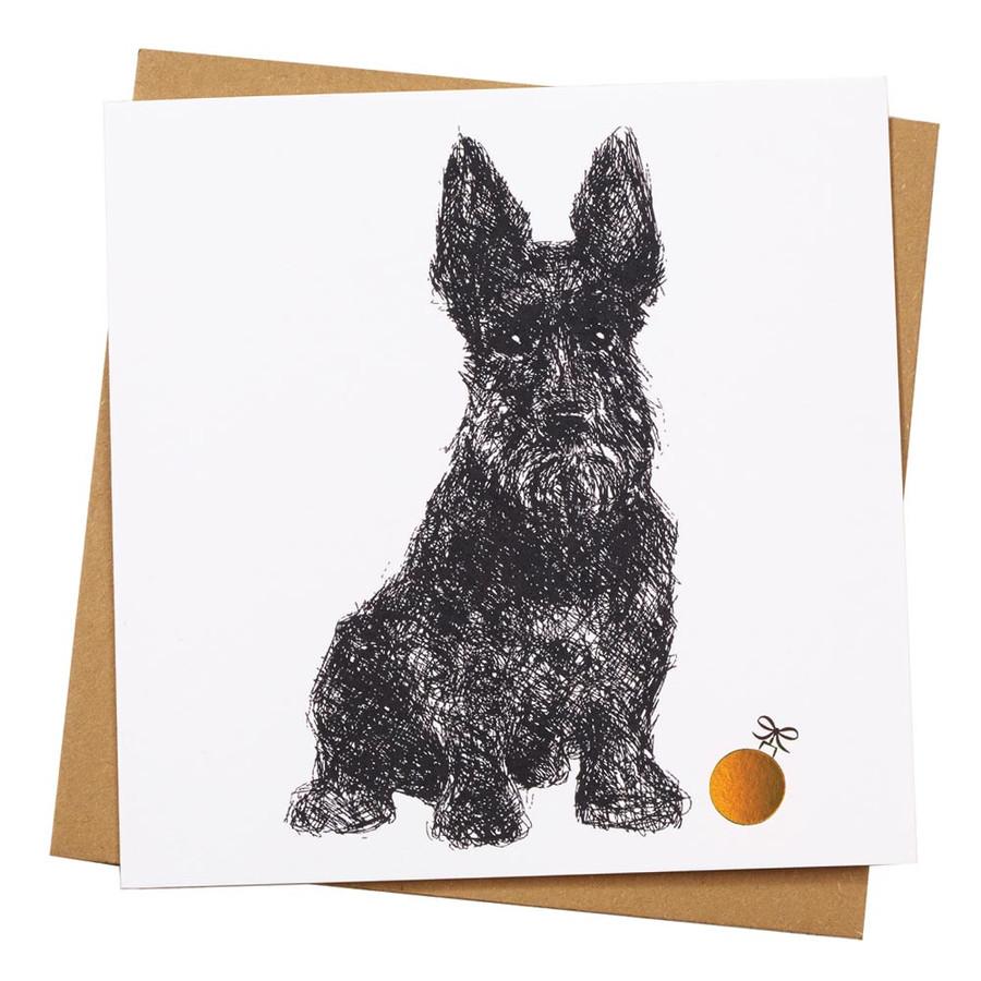 Scottie Dog Holiday Card