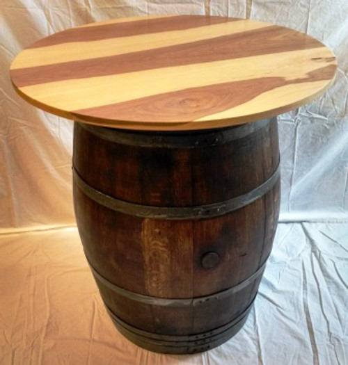 Wine Barrel Pub Table with Whisky Finish