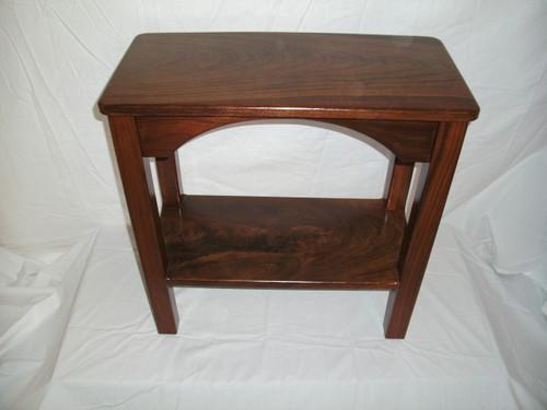 "Walnut End Table - 12"" wide"