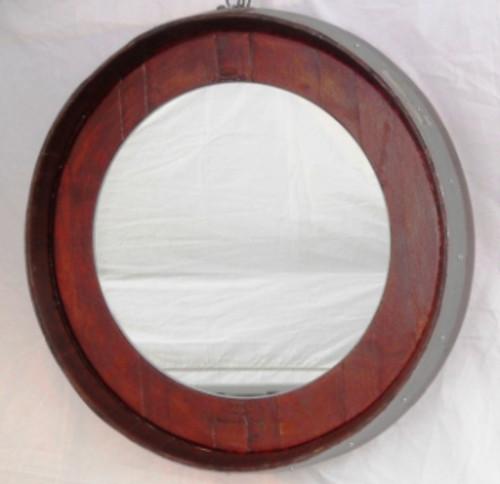 Wine Barrel Mirror