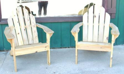 Adirondack Bench and Chairs