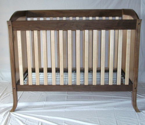 Walnut and Maple Crib