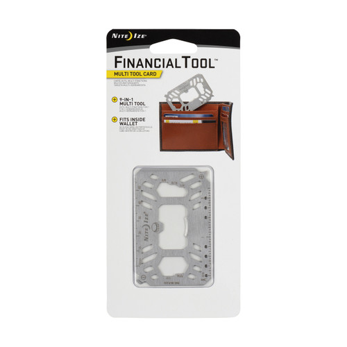 Financial Tool Multi Tool Card- Stainless