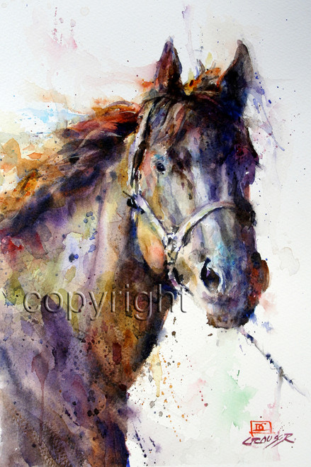 """PANCHO"" limited edition signed and numbered horse print from an original watercolor painting by Dean Crouser. Edition limited to 400 prints. I have other horse and western paintings to choose from."