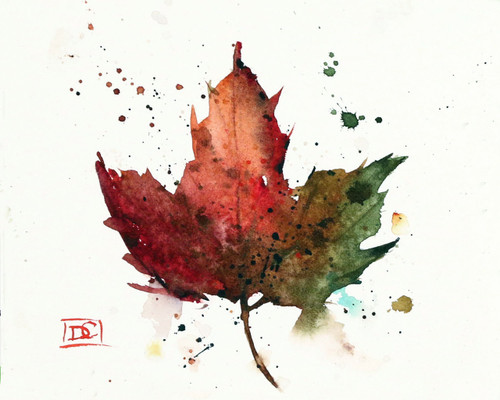 MAPLE LEAF signed and numbered print from an original watercolor painting by Dean Crouser. Lots of color and movement in this one - painted in Dean's loose, colorful style. Edition limited to 400 prints. Be sure to check out Dean's other nature and wildlife watercolor paintings!