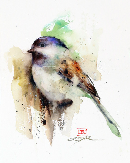 """""""CHESTER"""" bird art from an original watercolor painting by Dean Crouser. Available in a variety of products including signed and numbered limited edition prints, ceramic tiles, greeting cards and more!"""