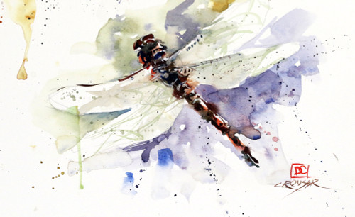 """DRAGONFLY, Sketch"""" original watercolor painting by Dean Crouser. This original painting measures approximately 9"" wide by 5-1/2"" tall. Here's a great opportunity to own a DC original! Artist retains any and all rights to future use of this image. Copyright Dean Crouser©"