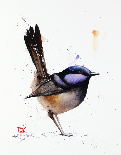 """VIOLET"" watercolor art from an original bird painting by Dean Crouser (original is sold). Available in a variety of products including limited edition signed and numbered prints, ceramic tiles and coasters, greeting cards and more."