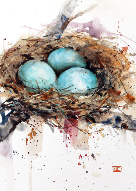 """""""BIRD NEST"""" 5 x 7"""" greeting cards. Blank inside, white envelope included. Individually packaged in protective clear flap-sealed bag. Quantity discounts for ordering."""