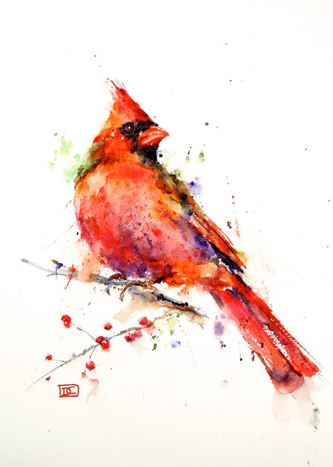 """CARDINAL"" 5 x 7"" greeting cards. Blank inside, white envelope included. Individually packaged in protective clear flap-sealed bag. Quantity discounts."