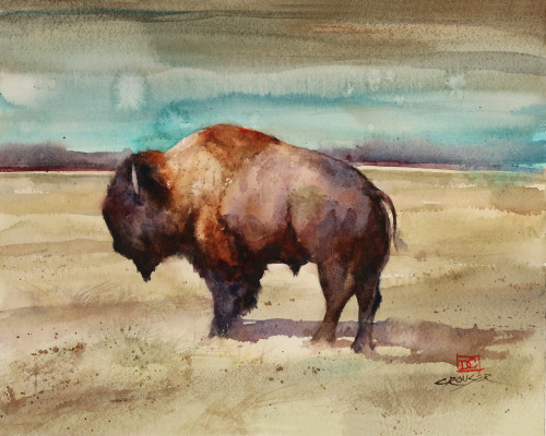 'RENEGADE' bison art available in a variety of products including signed and numbered limited edition prints, ceramic tiles and coasters, greeting cards and more.